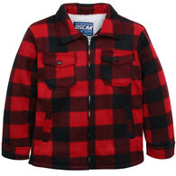Oscar Kids Boys' Buffalo Check Sherpa-Lined Jacket