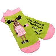 Hatley Women's I Moose Wake Up No-Slip Ankle Sock
