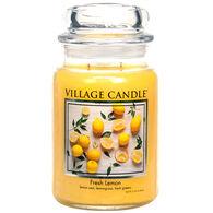 Village Candle Large Glass Jar Candle - Fresh Lemon