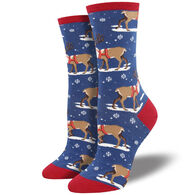 Socksmith Design Women's Winter Reindeer Sock