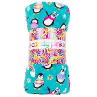 Candy Pink Penguin Blanket