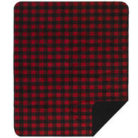 Monterey Mills Denali Red And Black Buffalo Check Throw Blanket