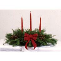 Bessey Ridge Wreaths 3-Candle Balsam Centerpiece