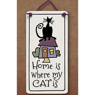 "Spooner Creek ""Home Is Where My Cat Is"" Mini Charmer Tile"