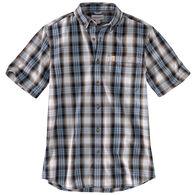Carhartt Men's Big & Tall Essential Plaid Open Collar Short-Sleeve Shirt
