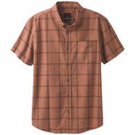 prAna Men's Broderick Window Pane Plaid Short-Sleeve Shirt