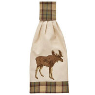 Park Designs Sequoia Embroidered Moose Hand Towel
