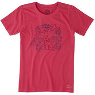 Life is Good Women's Lucky Dog Crusher Short-Sleeve T-Shirt