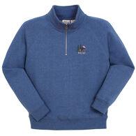 Lakeshirts Women's Blue 84 Maine Moose 1/4-Zip Sweatshirt