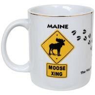 New England Souvenir & Gift Maine Moose Signs/Tracks Mug