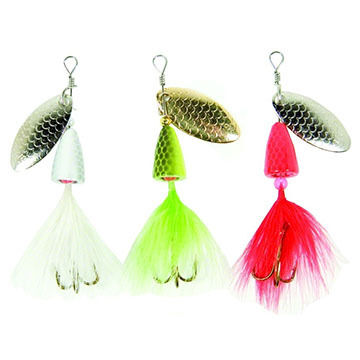 Eagle Claw Lake & Stream Willow Spinner - 3 Pk.
