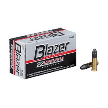 CCI Blazer 22 Long Rifle High-Velocity 40 Grain LRN Rimfire Ammo (50)
