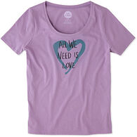 Life is Good Women's Heart Snuggle Up Short-Sleeve Sleep T-Shirt