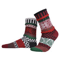 Solmate Socks Women's Poinsettia Crew Sock