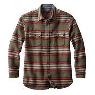 Pendleton Men's Blanket Stripe Cotton Flannel Long-Sleeve Overshirt