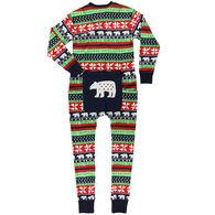 Lazy One Women's Sweater Bear Onesie Flap Jack