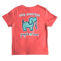 Puppie Love Youth Stay Pawsitive Short-Sleeve T-Shirt