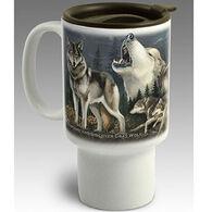 American Expedition Gray Wolf Stoneware Travel Mug
