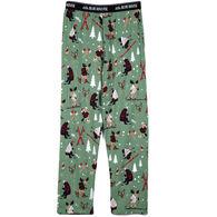 Hatley Little Blue House Men's Northern Winter Jersey Pajama Pant