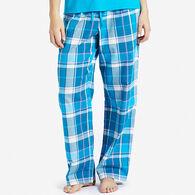 Life is Good Women's Blue Plaid Classic Sleep Pant