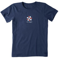 Life is Good Women's Americana Daisy Vintage Crusher Short-Sleeve T-Shirt