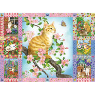 Outset Media Jigsaw Puzzle - Blossom and Kittens Quilt