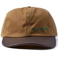 Filson Men's Tin Cloth Leather Cap