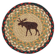 """Capitol Earth Braided 10"""" Round Moose Rug"""