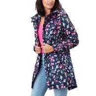 Joules Women's Golightly Printed Waterproof Packaway Jacket