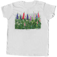 Liberty Graphics Women's Lupine and Daisies Short-Sleeve T-Shirt
