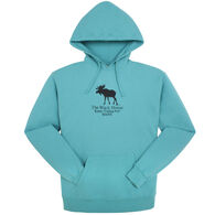 Original Design Women's Kittery Trading Post Black Moose Hooded Sweatshirt