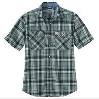 Carhartt Men's Rugged Flex Relaxed Fit Flannel Snap Front Plaid Short-Sleeve Shirt
