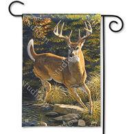 BreezeArt Whitetail Buck Garden Flag