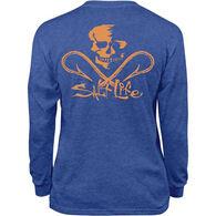 Salt Life Youth Skull And Hooks Long-Sleeve T-Shirt