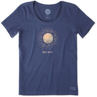 Life is Good Women's Sunray Circles Crusher Scoop Short-Sleeve Shirt