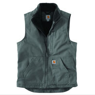 Carhartt Men's Washed Duck Sherpa-Lined Mock Vest