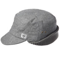 Crown Cap Men's Poly / Wool Flat Cap