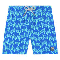 Tom & Teddy Boy's Blue & Ice Green Turtle Swim Trunk