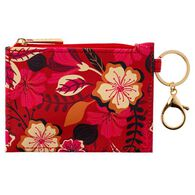 Karma Women's Red Floral Zip ID Holder