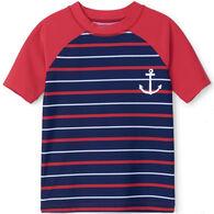 Hatley Boy's Nautical Stripe Short-Sleeve Rashguard Top
