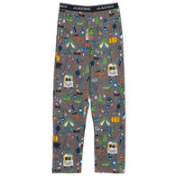 Hatley Little Blue House Men's Retro Camping Jersey Pajama Pant