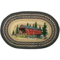 Capitol Earth Covered Bridge Oval Patch Braided Rug
