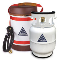 Ignik Refillable Propane Gas Growler Deluxe Kit w/ Adapter Hose & Carry Case
