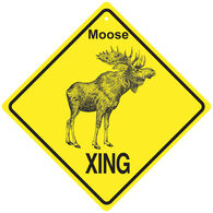 KC Creations Moose XING Sign