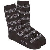 K. Bell Women's Making Music Crew Sock