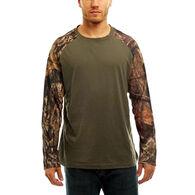 Trail Crest Men's Mossy Oak Raglan Long-Sleeve T-Shirt
