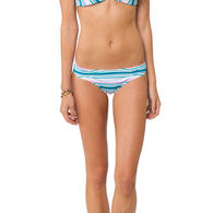 O'Neill Women's Beach Stripe Cinched Basic Bottom
