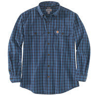 Carhartt Men's Big & Tall Original Fit Chambray Plaid Long-Sleeve Shirt