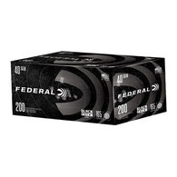 Federal Black Pack 40 S&W 165 Grain FMJ Handgun Ammo (200)