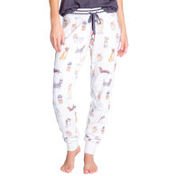 P.J. Salvage Women's Coffee & Canines Dog Print Banded Jammie Pant